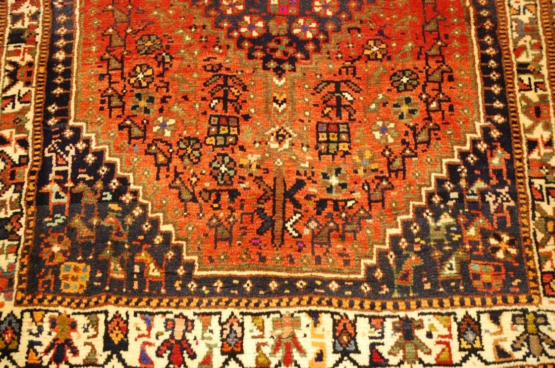 Vintage Persian Shiraz Qashkai Afshar Rug 3.x5.4 - 10