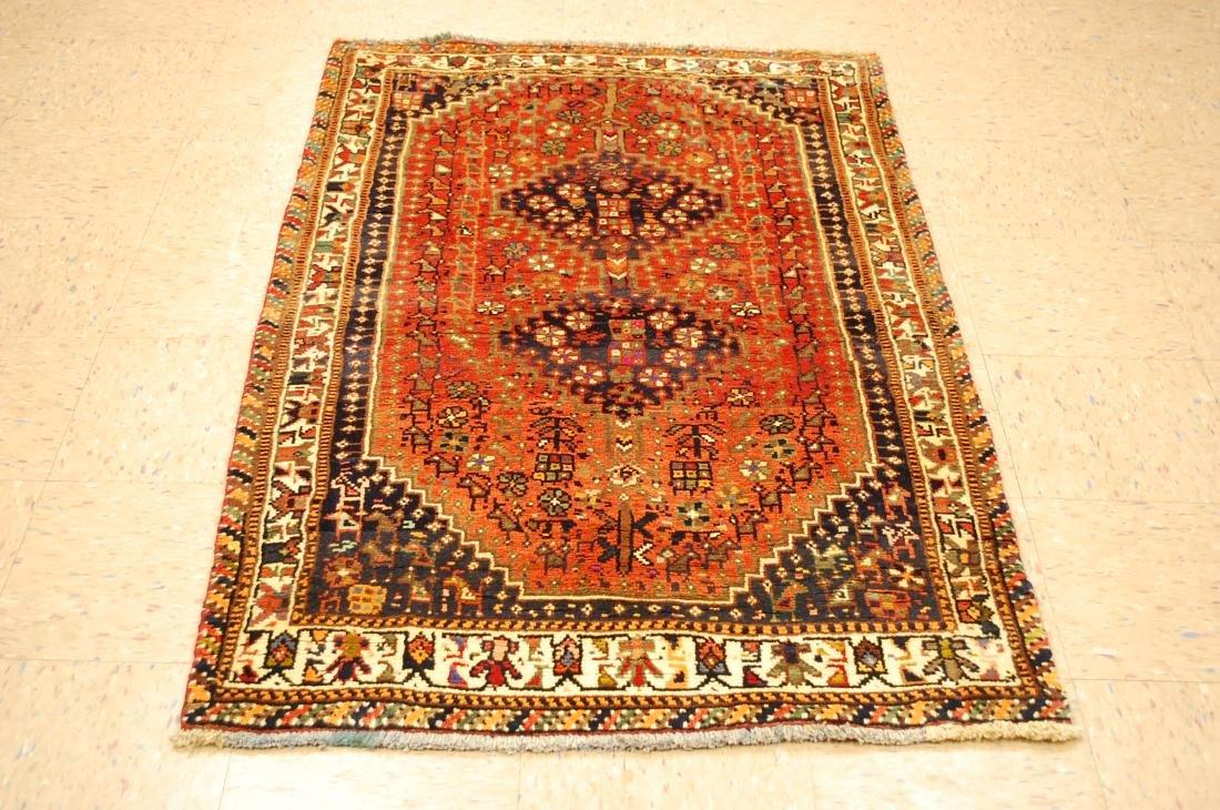 Vintage Persian Shiraz Qashkai Afshar Rug 3.x5.4