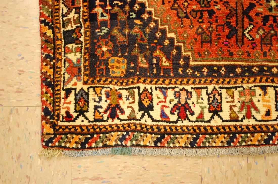 Vintage Persian Shiraz Qashkai Afshar Rug 3.x5.4 - 3