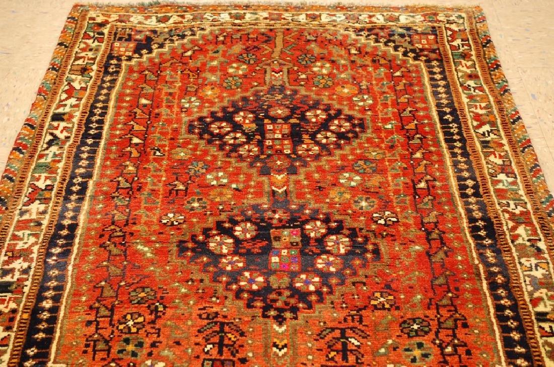 Vintage Persian Shiraz Qashkai Afshar Rug 3.x5.4 - 6