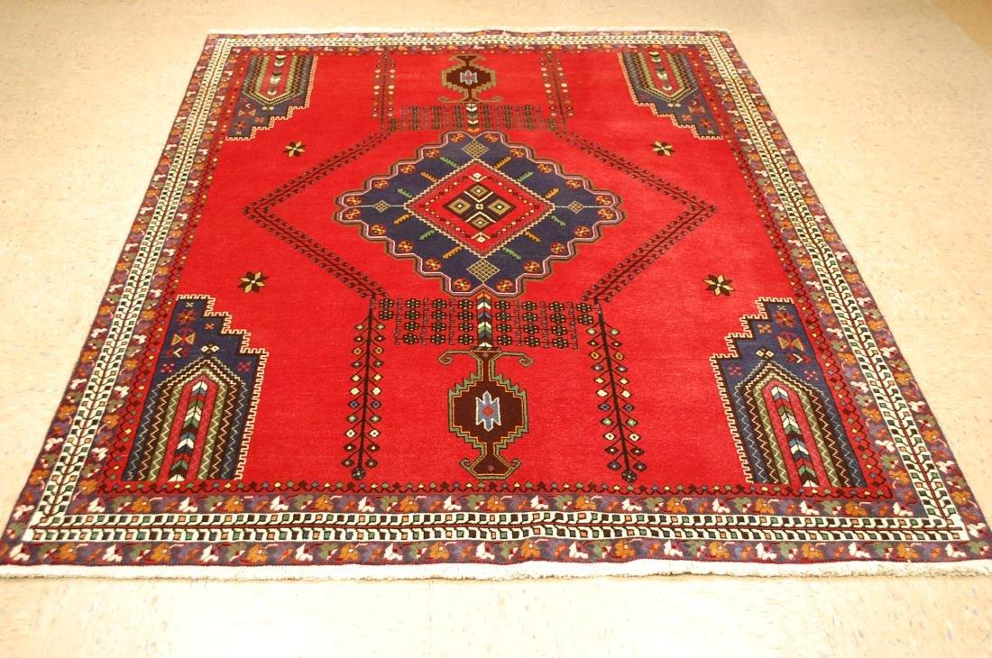 Vintage Persian Shiraz Qashkai Afshar Rug 5.6x7.10