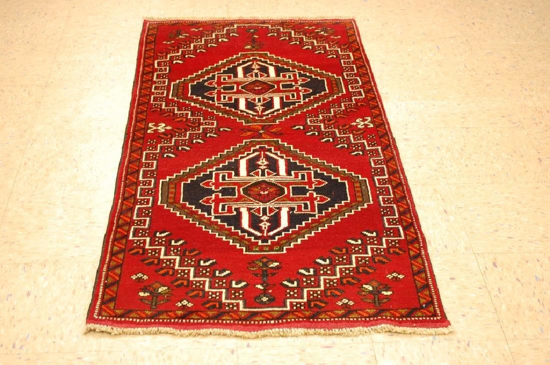 Vintage Persian Shiraz Qashkai Afshar Rug 2.8x5.4