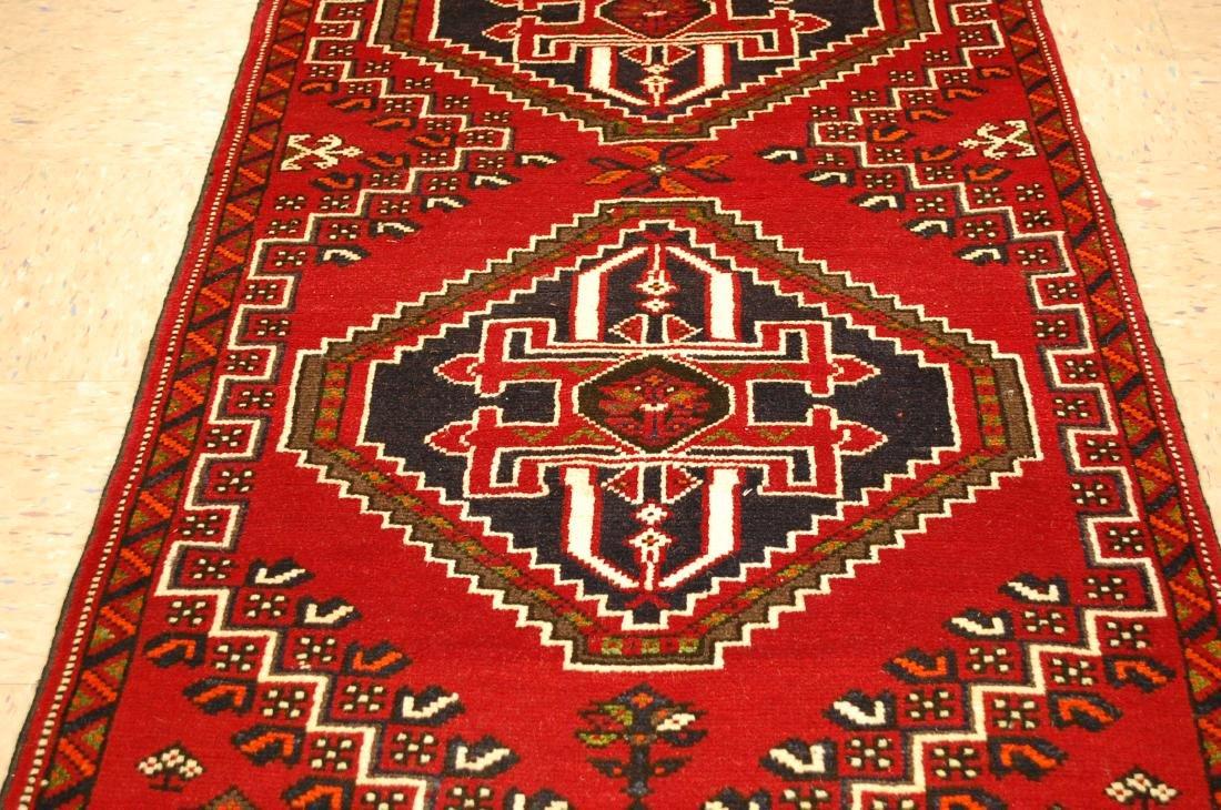 Vintage Persian Shiraz Qashkai Afshar Rug 2.8x5.4 - 4