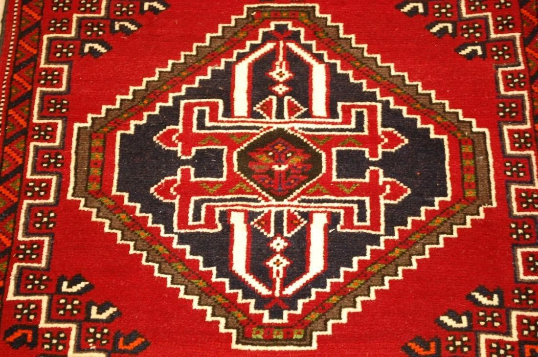 Vintage Persian Shiraz Qashkai Afshar Rug 2.8x5.4 - 7