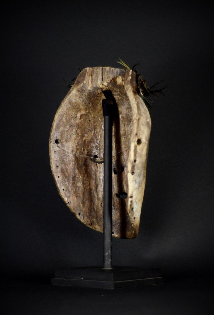 Very Old African Tribal Bembe Mask - 10