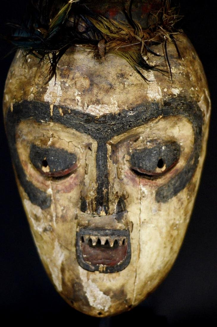 Very Old African Tribal Bembe Mask
