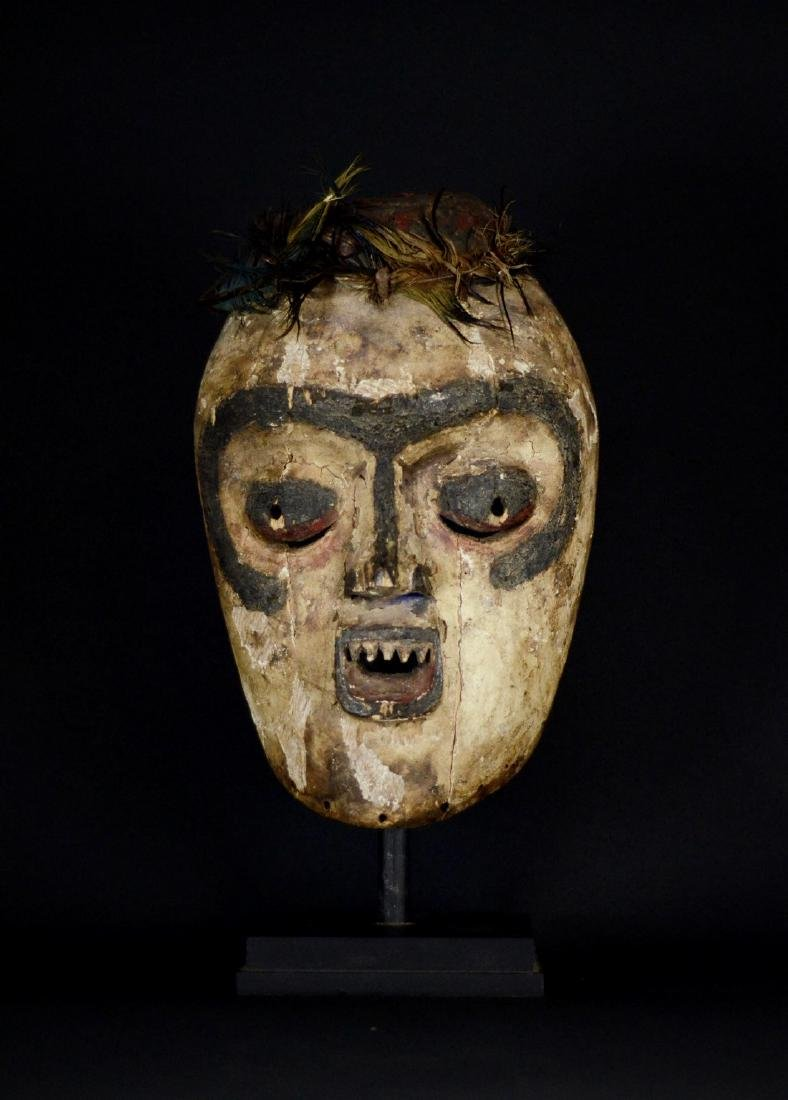 Very Old African Tribal Bembe Mask - 4
