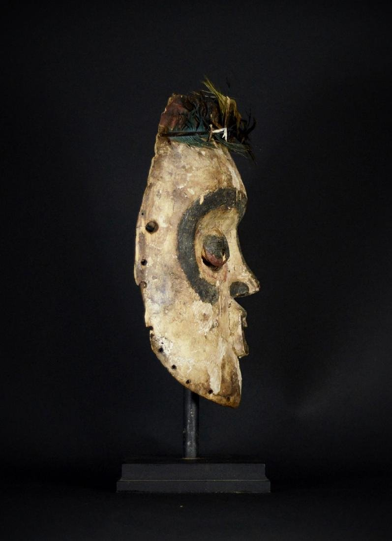 Very Old African Tribal Bembe Mask - 9