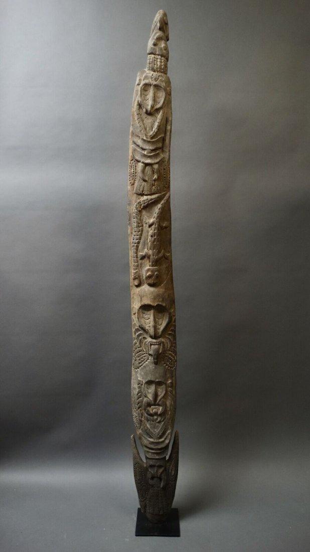 Carved Out Sacred House Food Hook Figure Sepik