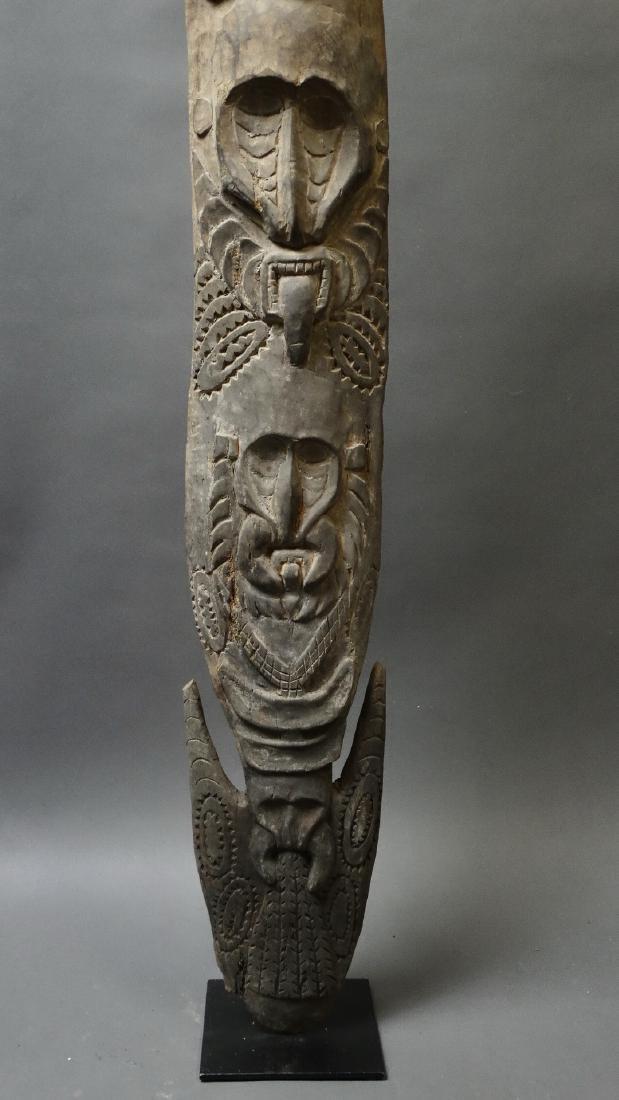 Carved Out Sacred House Food Hook Figure Sepik - 2