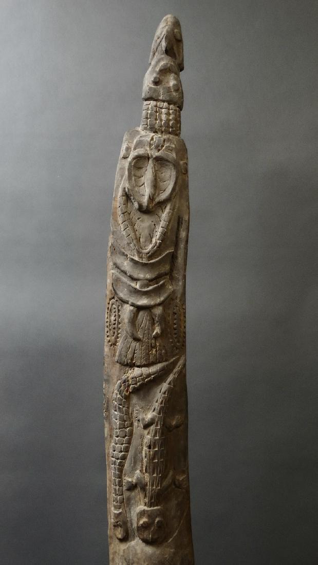 Carved Out Sacred House Food Hook Figure Sepik - 3