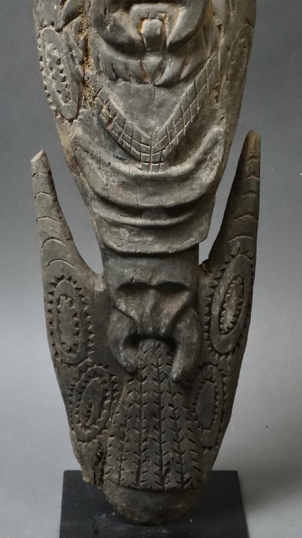 Carved Out Sacred House Food Hook Figure Sepik - 4