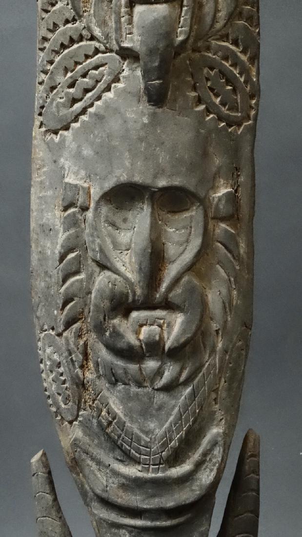 Carved Out Sacred House Food Hook Figure Sepik - 5