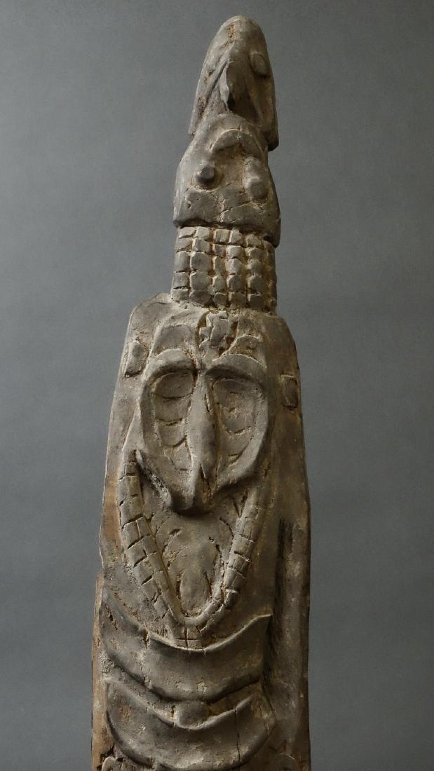 Carved Out Sacred House Food Hook Figure Sepik - 8