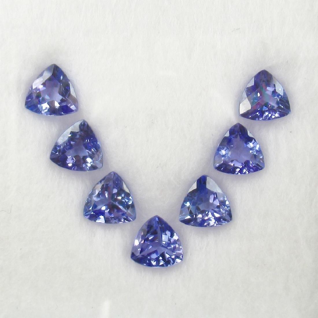 5.14 Ct 7 Loose Tanzanites Trillion Necklace Set