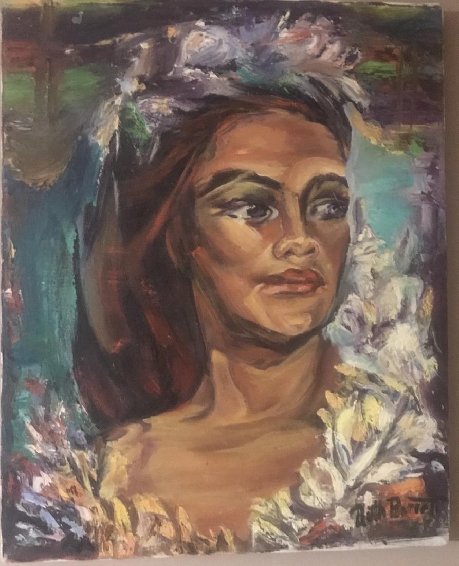 Ruth Barrett painting