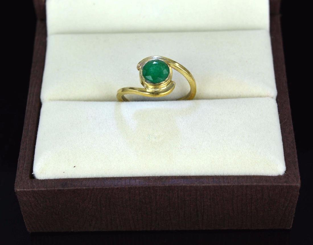 2.17 Ct Certified Round Natural Green Emerald
