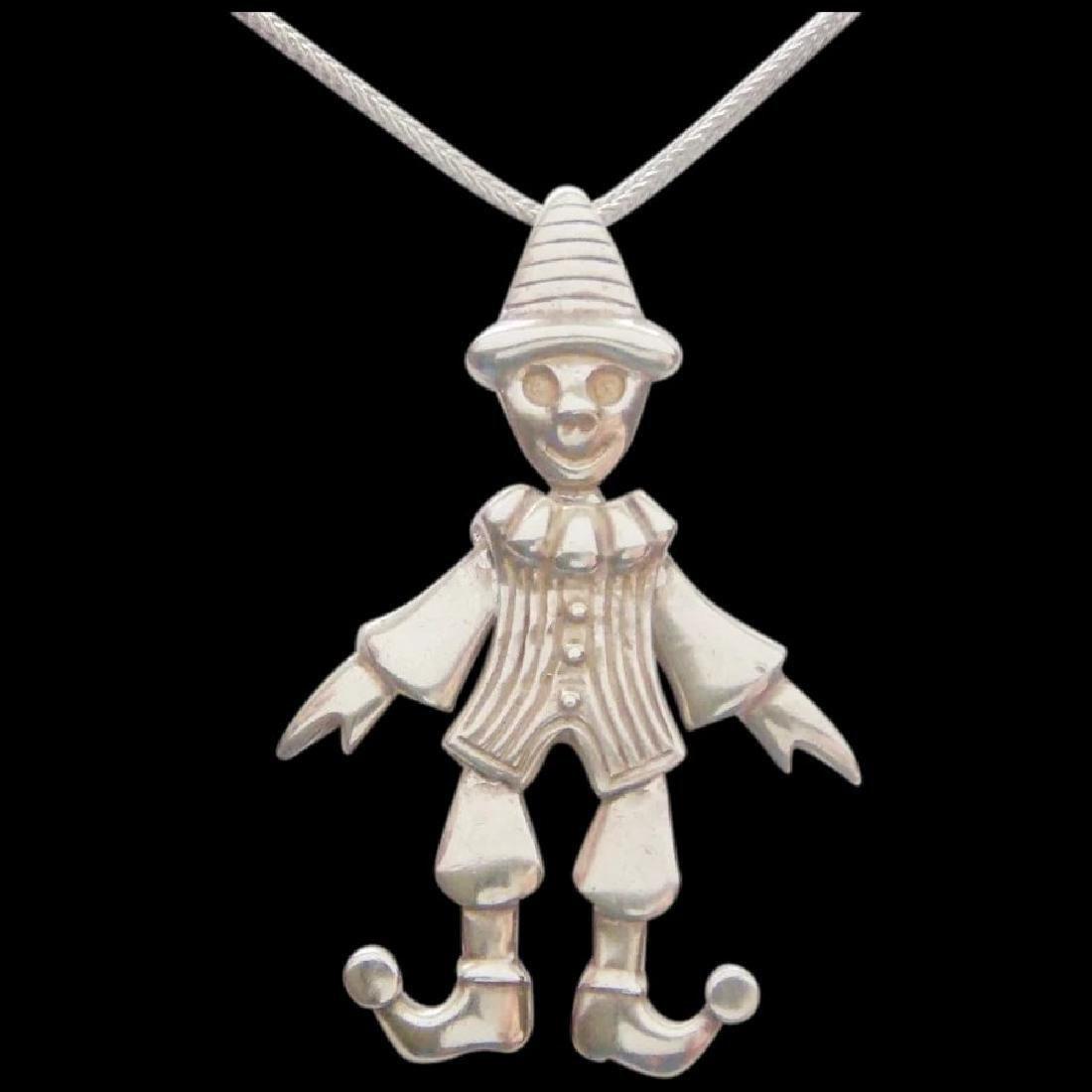 Movable Pierrot clown Pendant Pantomime Vintage