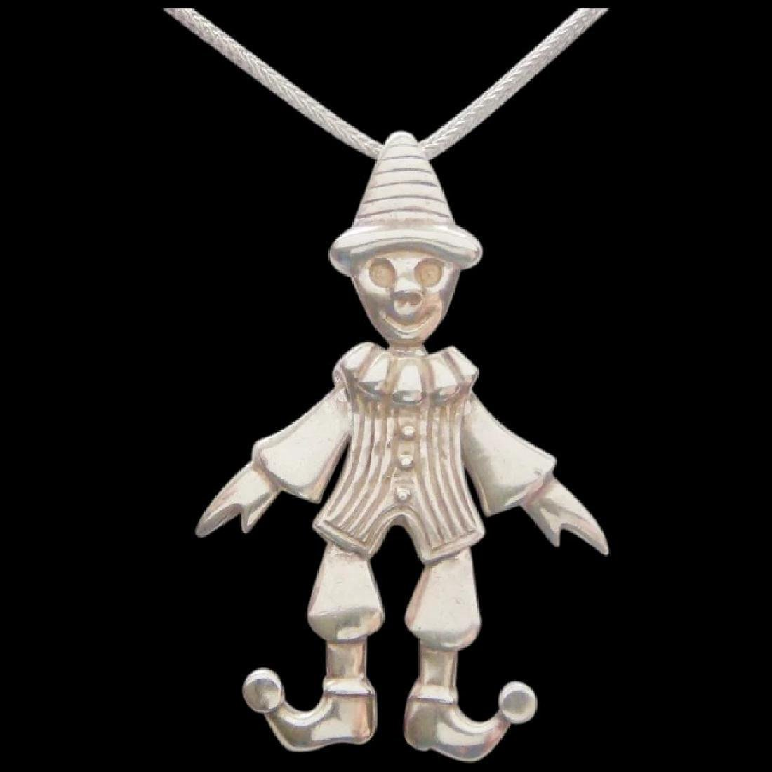 Movable Pierrot clown Pendant Pantomime Vintage