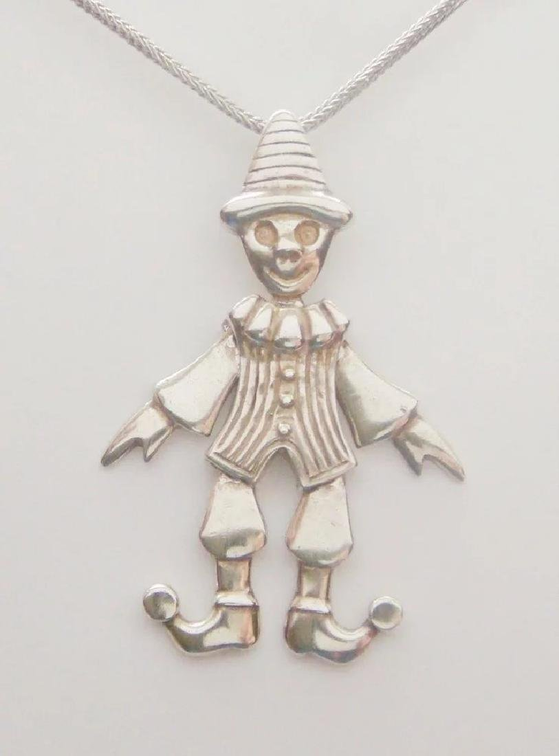 Movable Pierrot clown Pendant Pantomime Vintage - 2