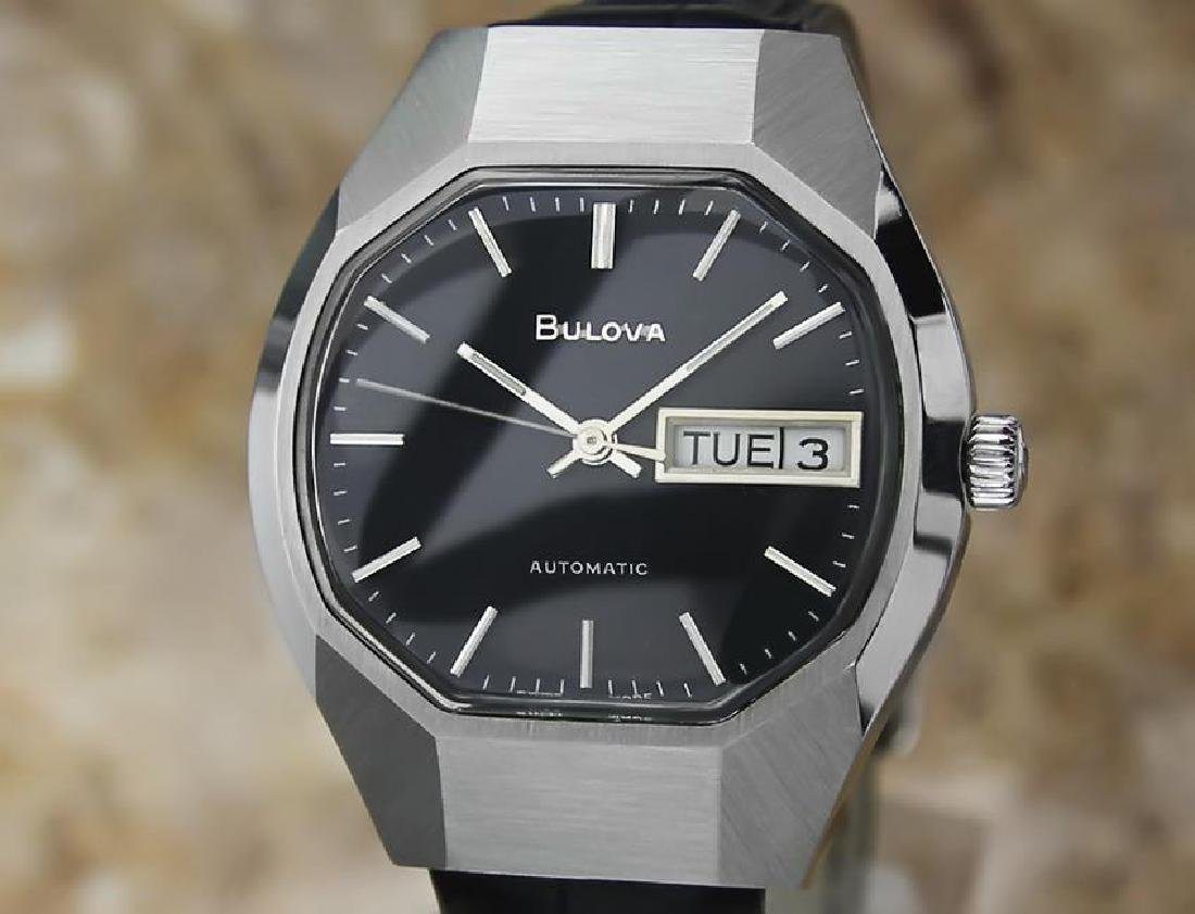 Bulova Mens Vintage 1970s Automatic Day Date Swiss