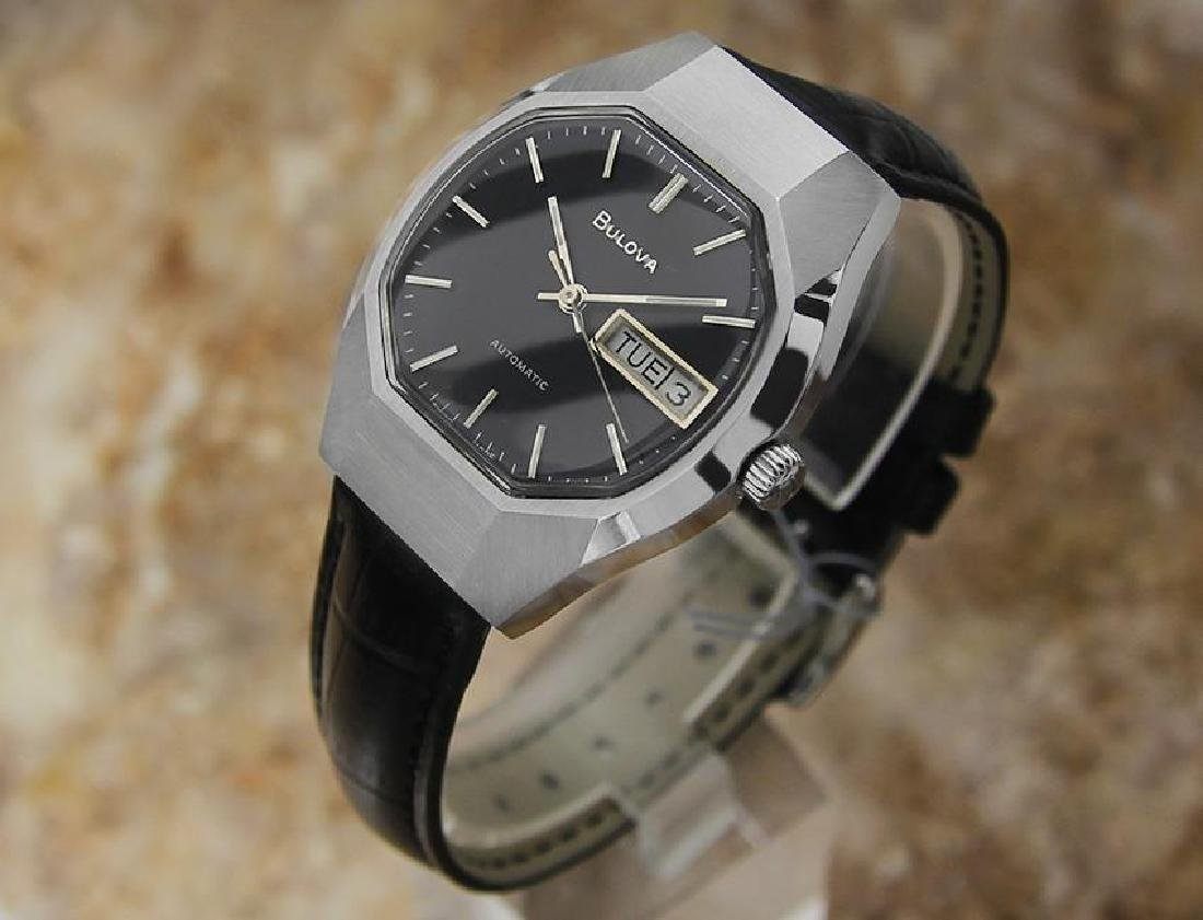 Bulova Mens Vintage 1970s Automatic Day Date Swiss - 2