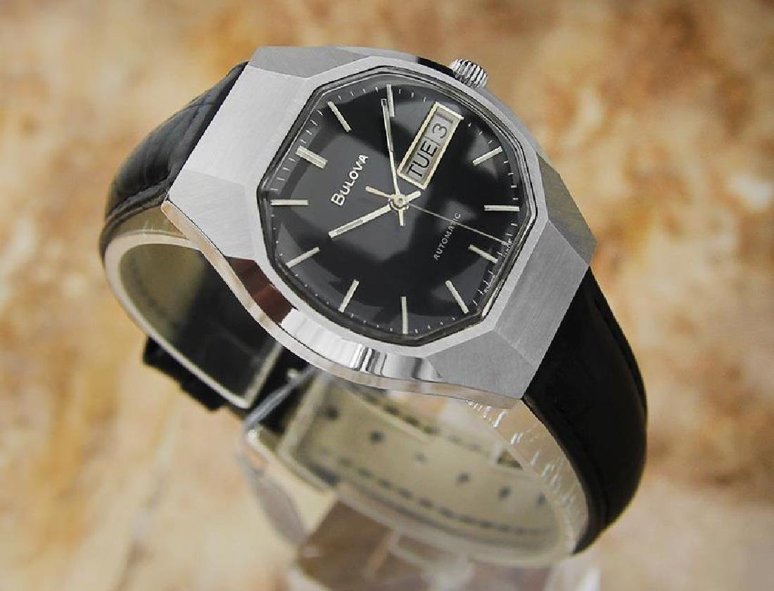 Bulova Mens Vintage 1970s Automatic Day Date Swiss - 3
