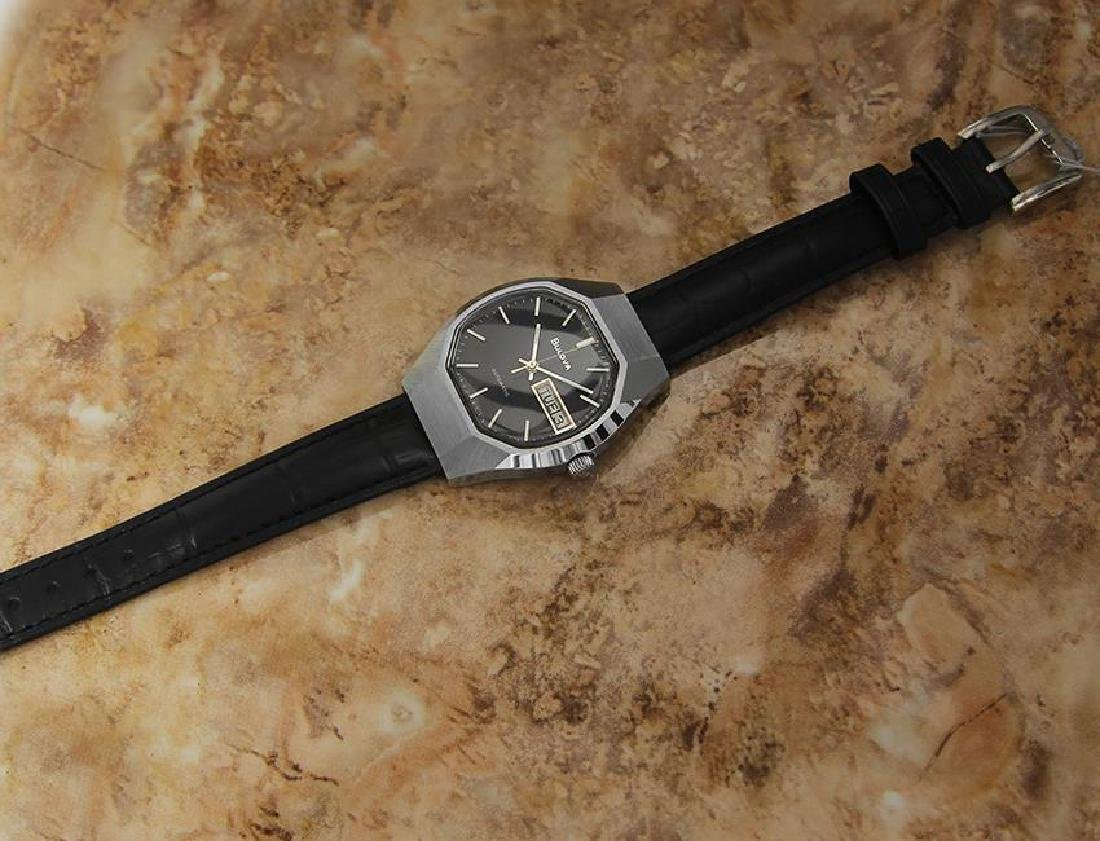 Bulova Mens Vintage 1970s Automatic Day Date Swiss - 5