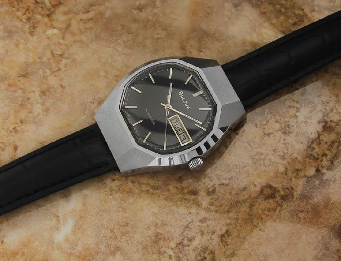 Bulova Mens Vintage 1970s Automatic Day Date Swiss - 6