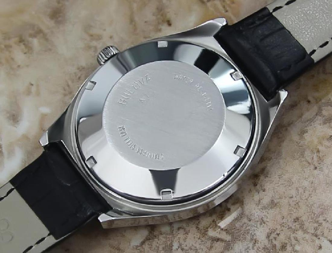 Bulova Mens Vintage 1970s Automatic Day Date Swiss - 7