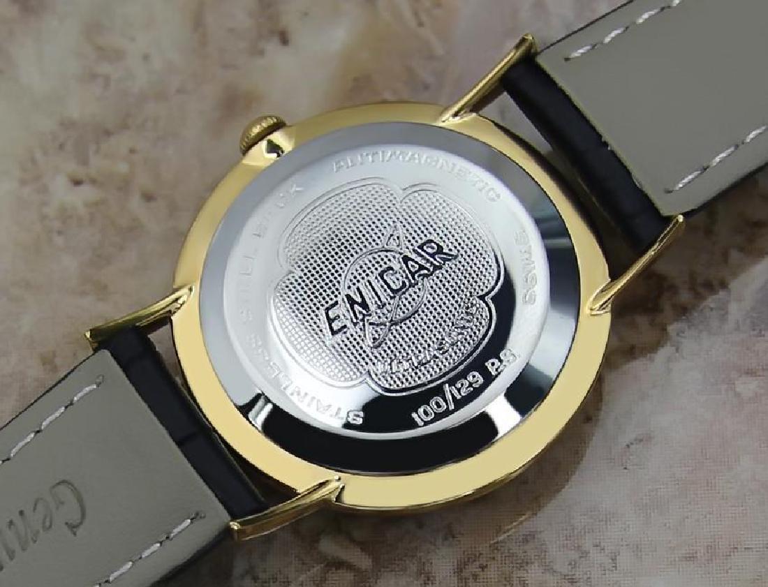 Enicar Swiss Made Rare Vinatge 1960s Manual Men's Gold - 7