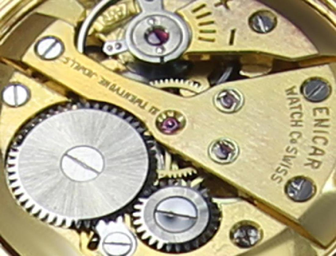 Enicar Swiss Made Rare Vinatge 1960s Manual Men's Gold - 8