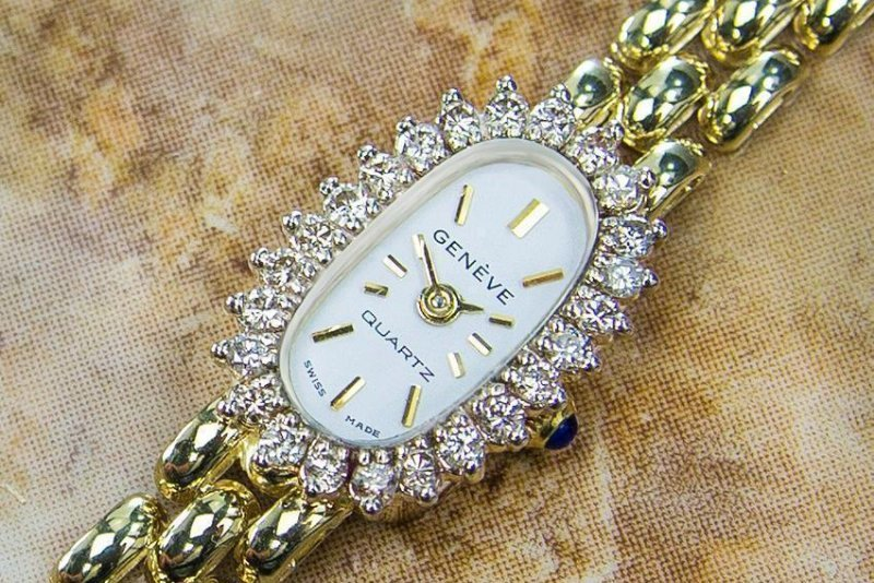 Luxury Geneve Quartz 14K Gold Swiss Made Vintage