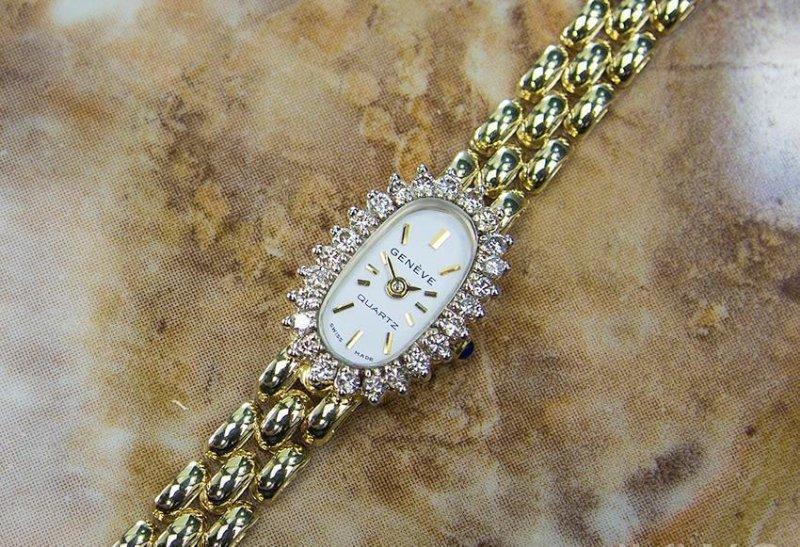 Luxury Geneve Quartz 14K Gold Swiss Made Vintage - 2