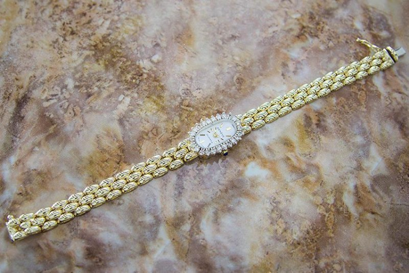 Luxury Geneve Quartz 14K Gold Swiss Made Vintage - 4