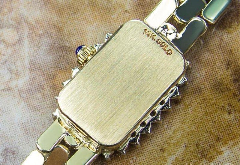 Luxury Geneve Quartz 14K Gold Swiss Made Vintage - 5