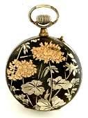 Art Nouveau Swiss Longines Pocket Watch-18K Rose