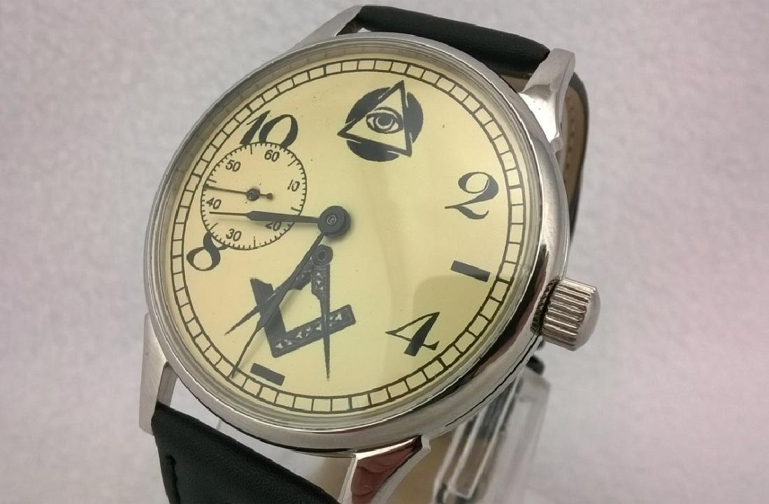 "Molnija ""Freemasonry"" USSR men's mariage watch 1980s"