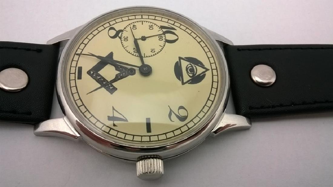 "Molnija ""Freemasonry"" USSR men's mariage watch 1980s - 4"