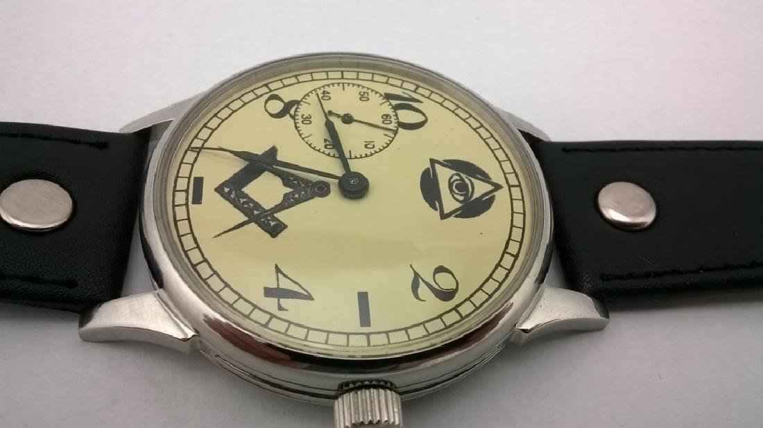 "Molnija ""Freemasonry"" USSR men's mariage watch 1980s - 5"