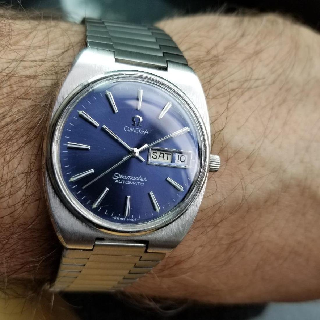 Omega Vintage Seamaster 1970s Swiss 35mm Automatic Mens - 11