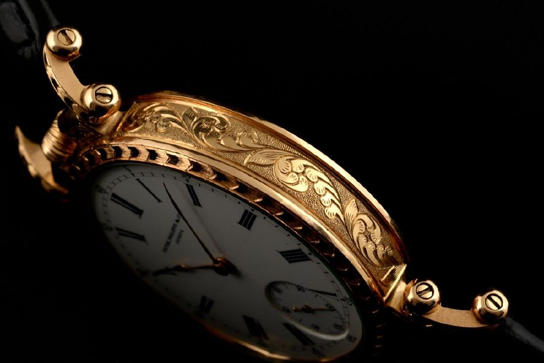 Rare Patek Philippe Gold Hand Engraved - 3