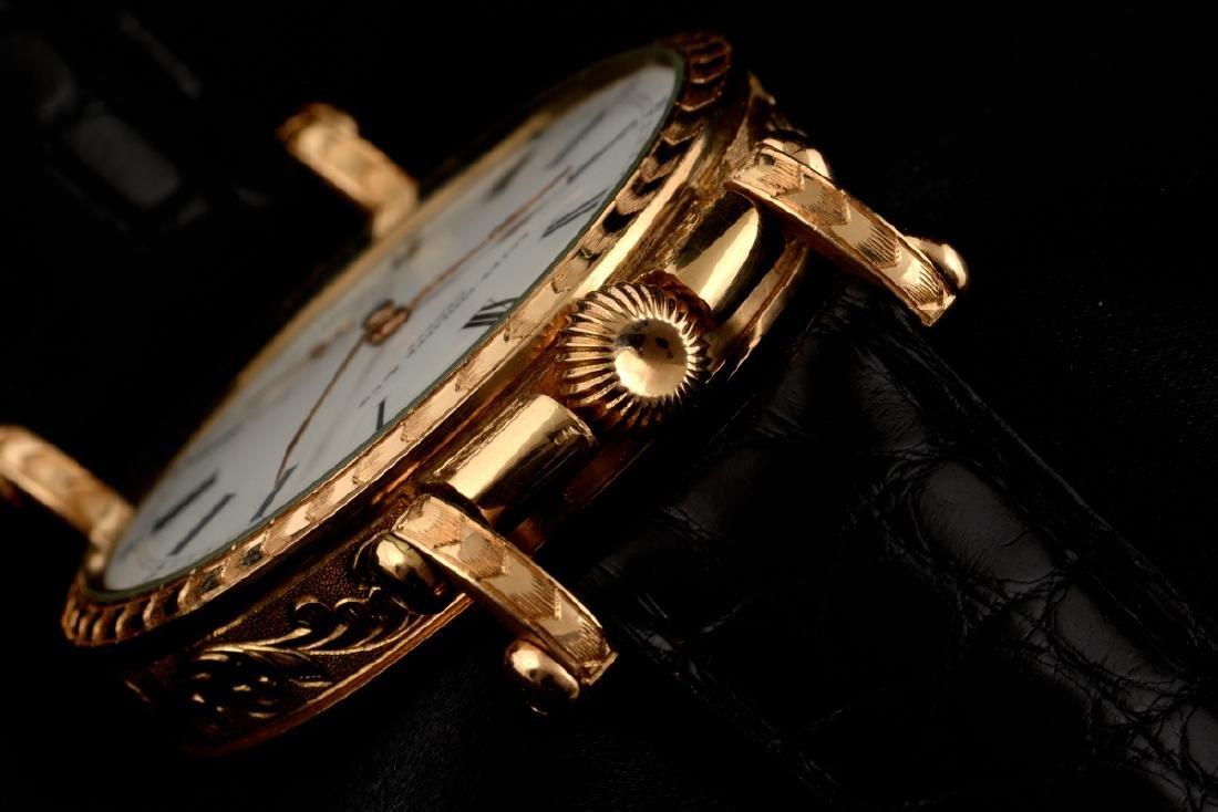 Rare Patek Philippe Gold Hand Engraved - 4