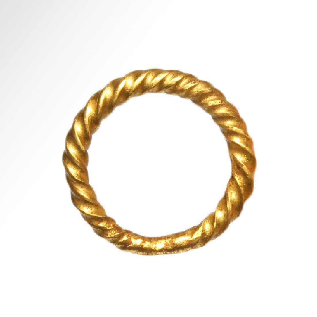 Viking Solid Gold Ring, c. 10th Century A.D.