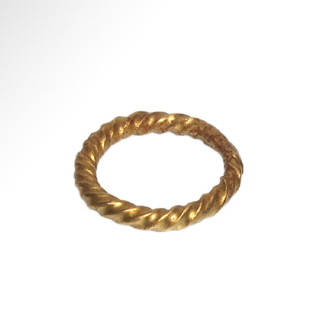 Viking Solid Gold Ring, c. 10th Century A.D. - 4