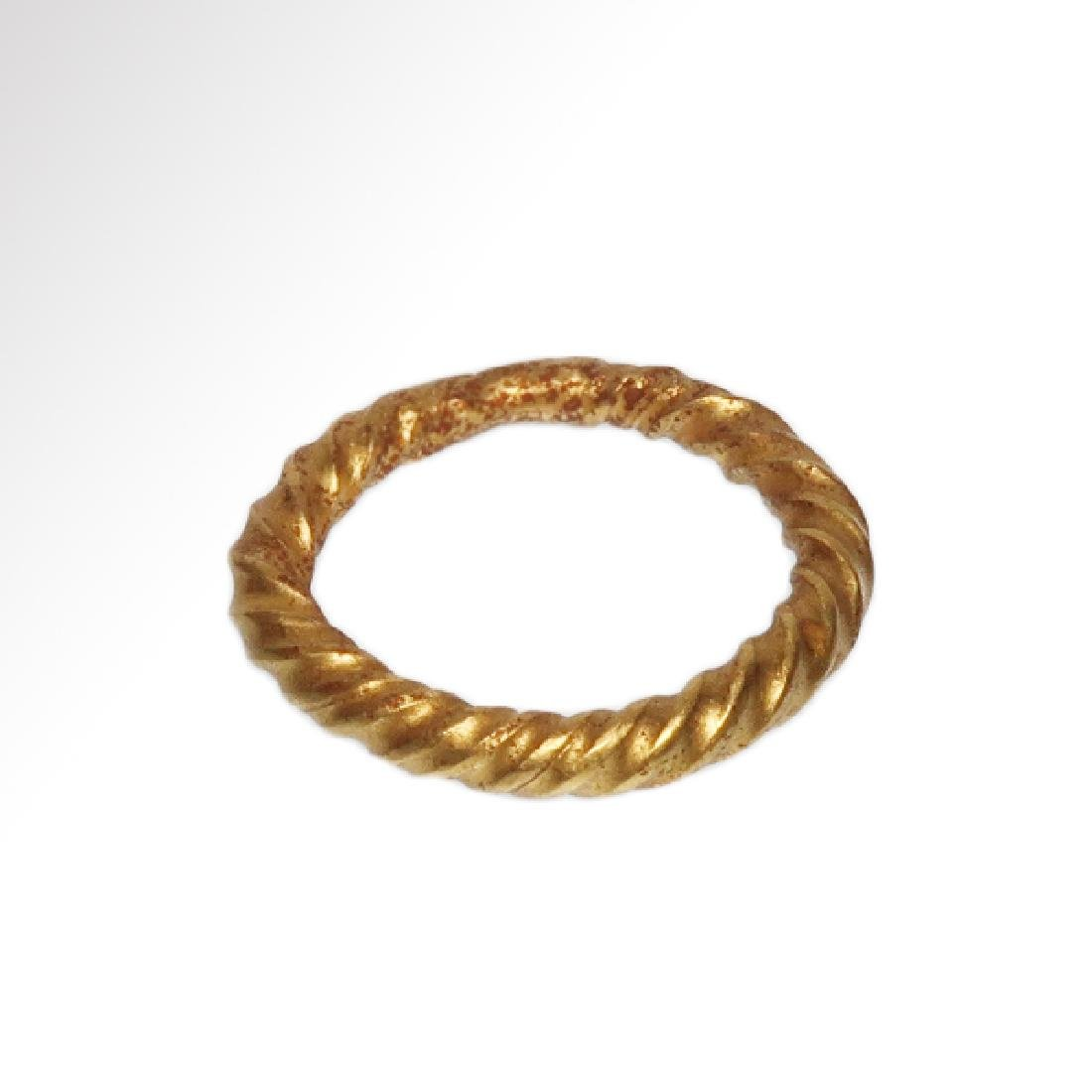 Viking Solid Gold Ring, c. 10th Century A.D. - 5