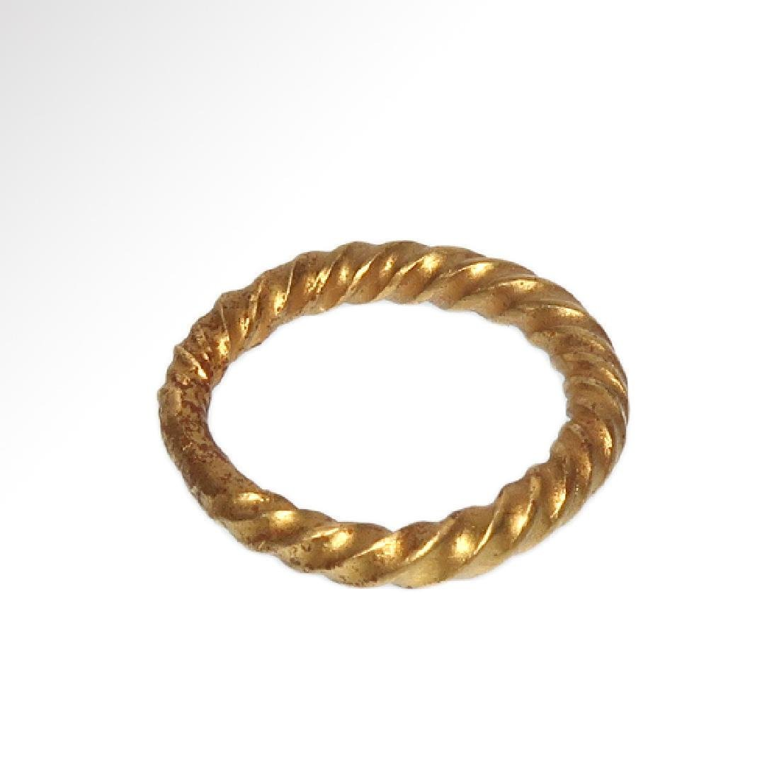 Viking Solid Gold Ring, c. 10th Century A.D. - 6