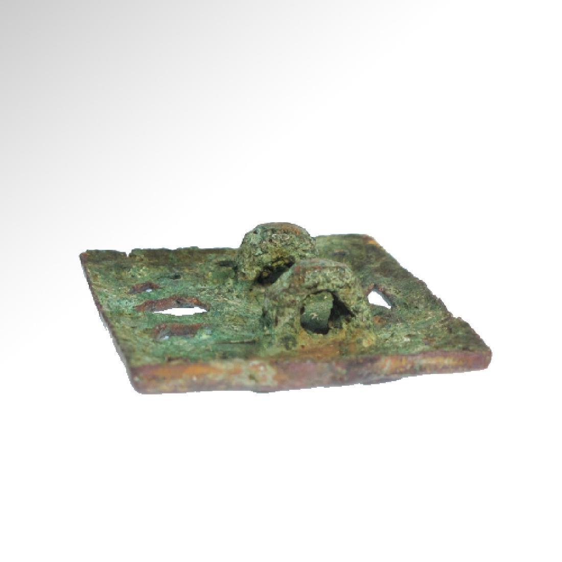 Ordos Gilt Bronze Open-Work Plaque with Bull, c. 500 - 5