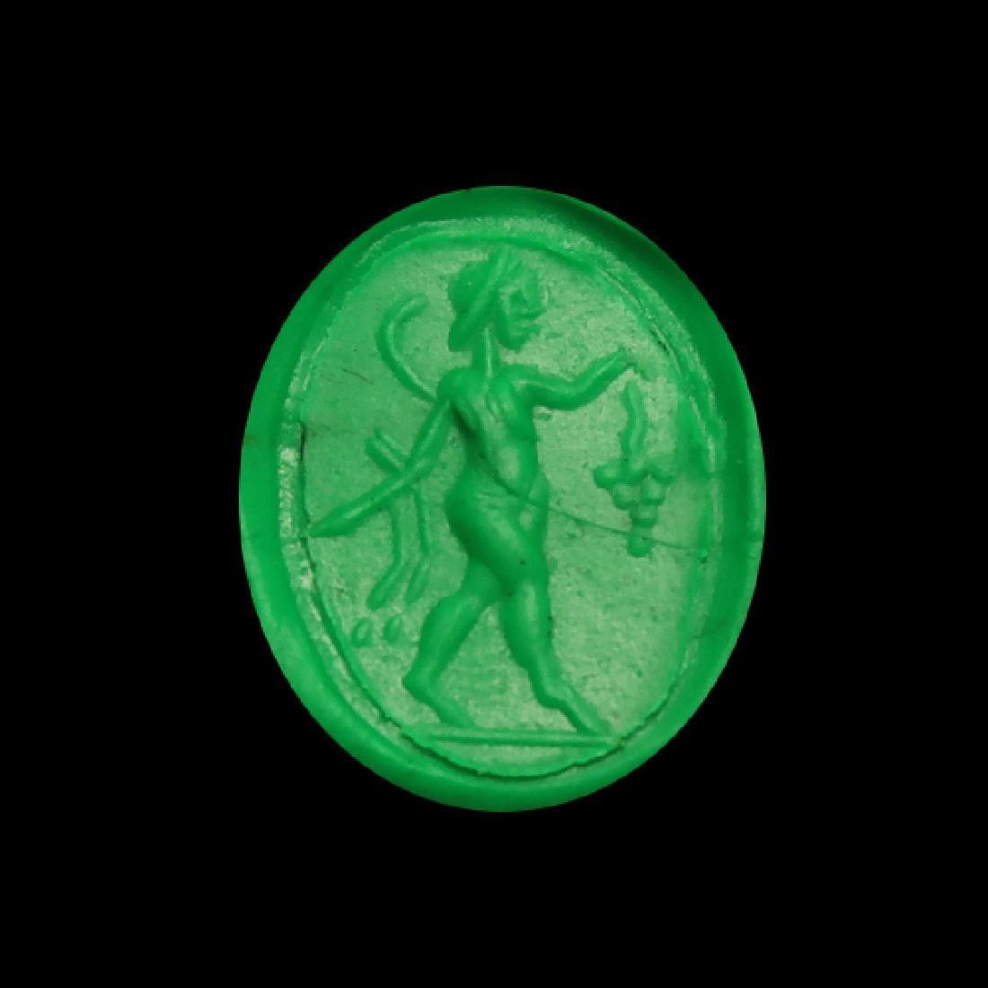 Roman Gold Ring with Dionysus Cornelian Intaglio, c. - 2