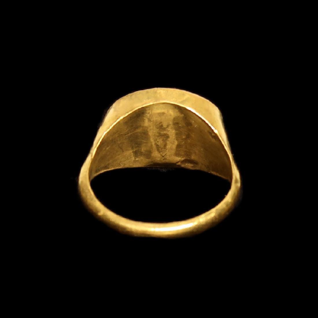 Roman Gold Ring with Dionysus Cornelian Intaglio, c. - 5